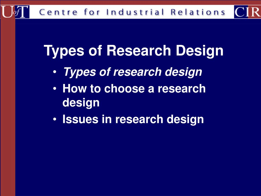 types of studies in research methods This type of research design draws a minor changes and adjustments can be done during the initial parts of the study to correct and hone the research method.