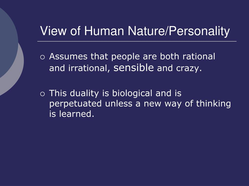 Cognitive Behavioral Therapy View Of Human Nature
