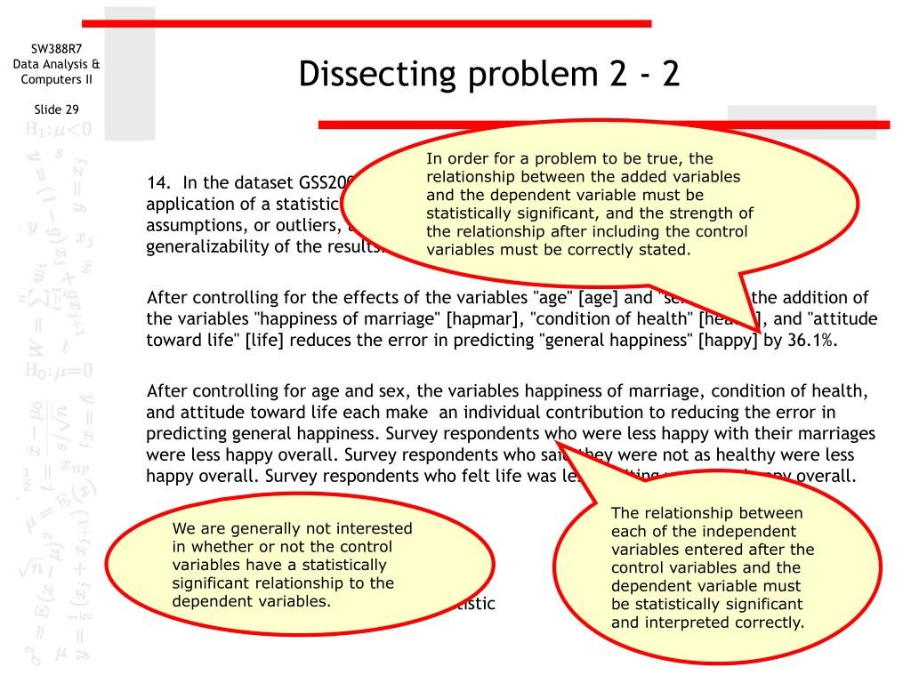 Dissecting problem 2 - 2
