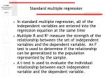 standard multiple regression