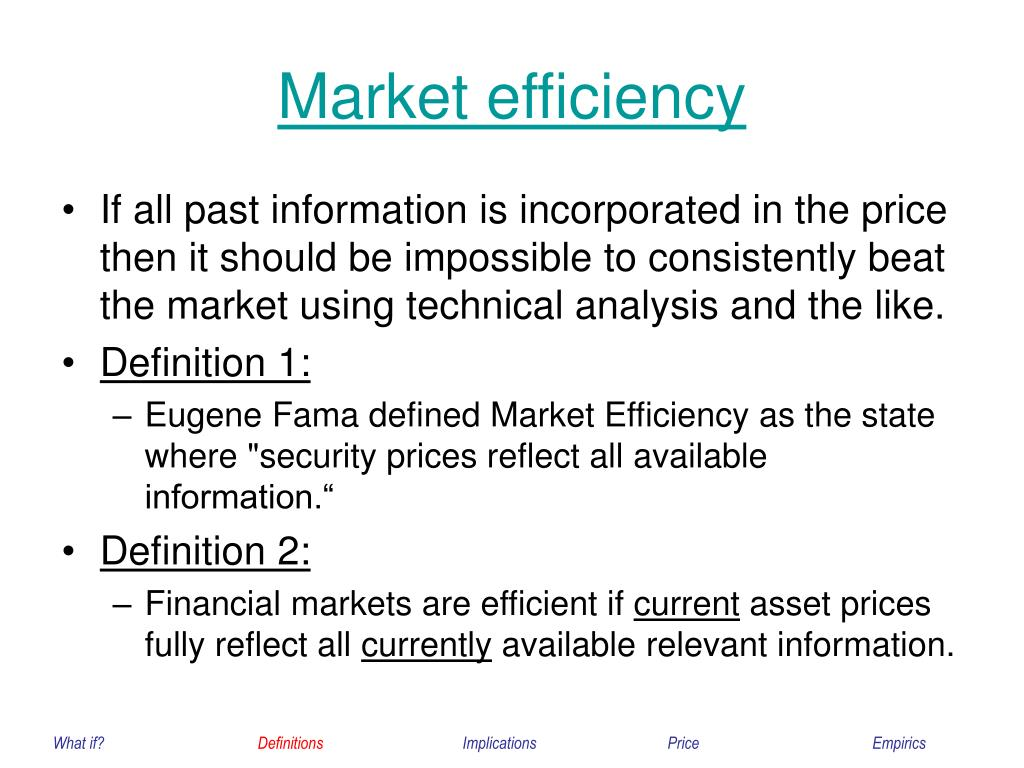 Market efficiency