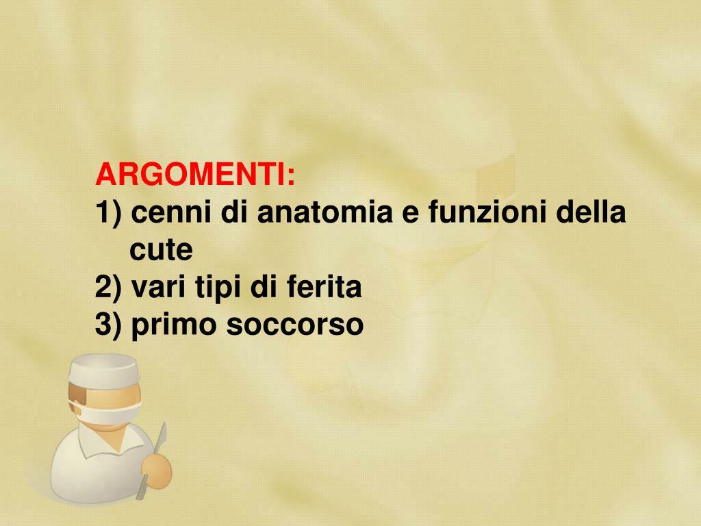 ARGOMENTI: