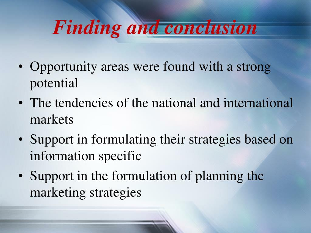 Finding and conclusion