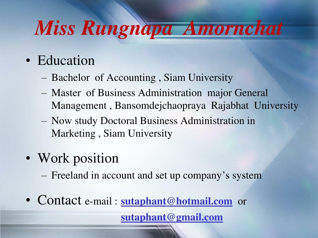 Miss Rungnapa  Amornchat