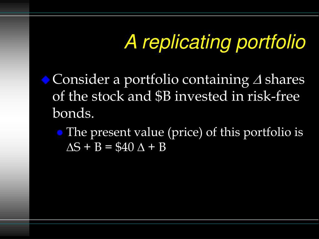 A replicating portfolio