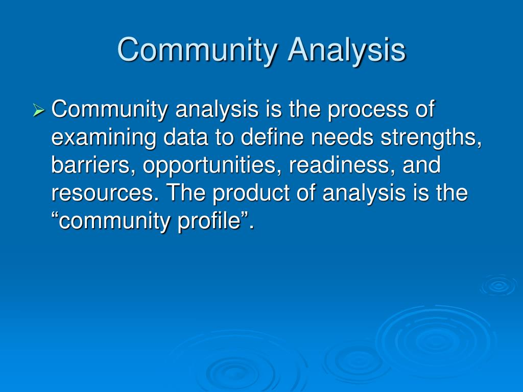 community analysis Macro community analysis homelessness is a significant concern within the u s and global community this situation arises when its individuals are poverty stricken and do not have regular.