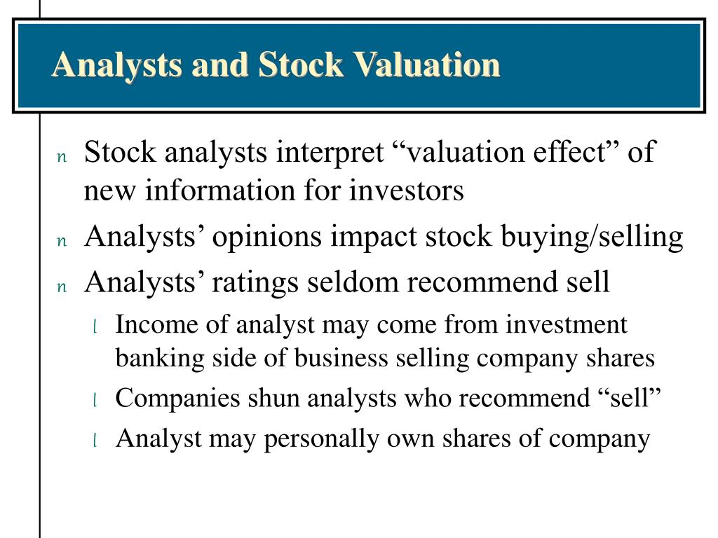 Analysts and Stock Valuation