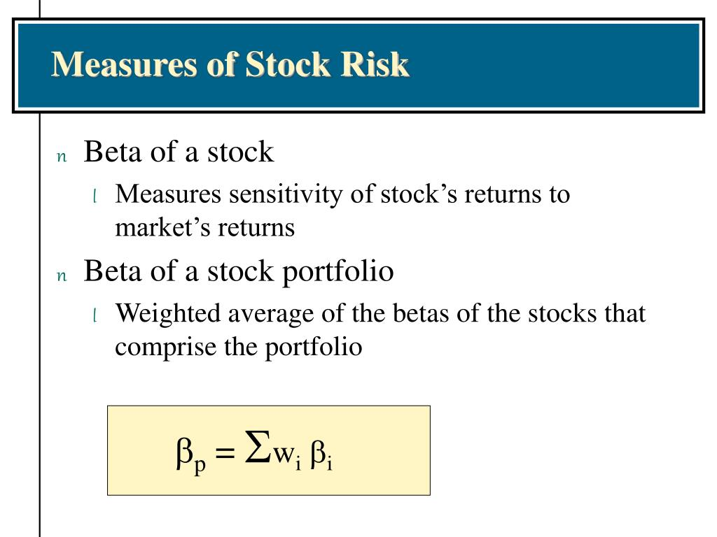 Measures of Stock Risk