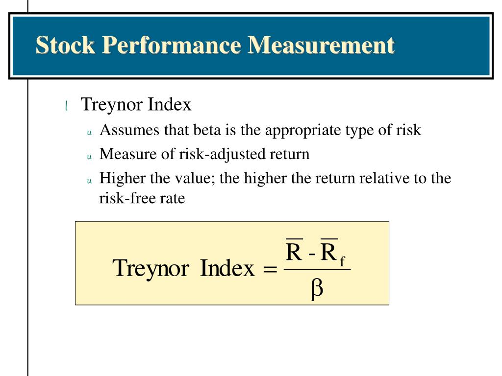 Stock Performance Measurement