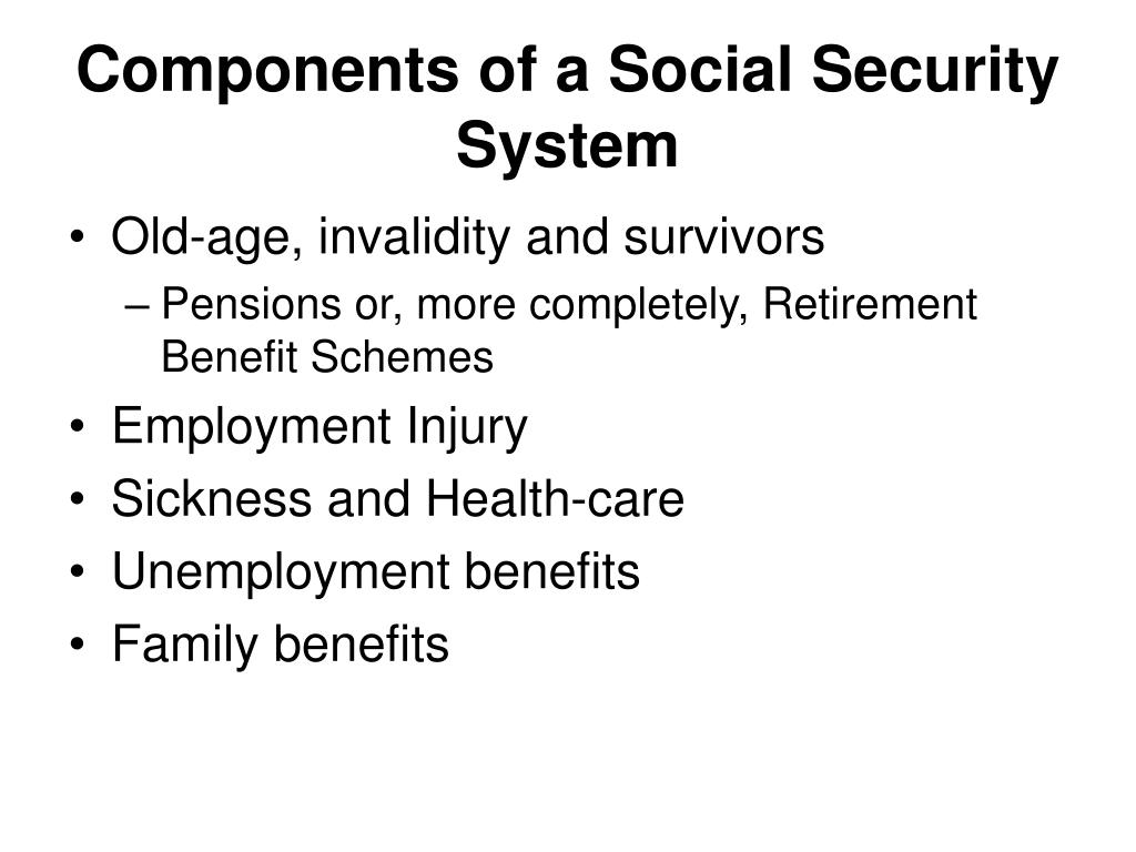 Components of a Social Security System