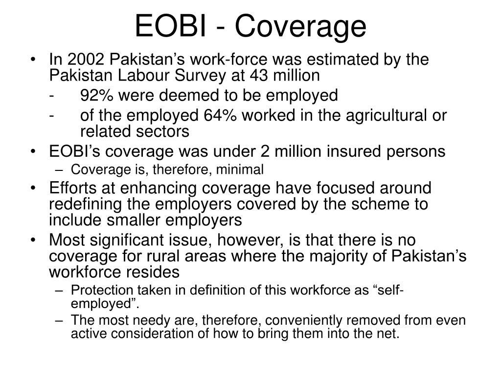 EOBI - Coverage