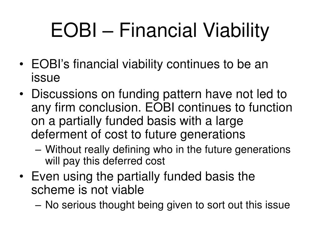 EOBI – Financial Viability