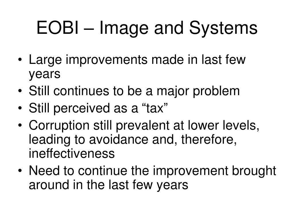 EOBI – Image and Systems