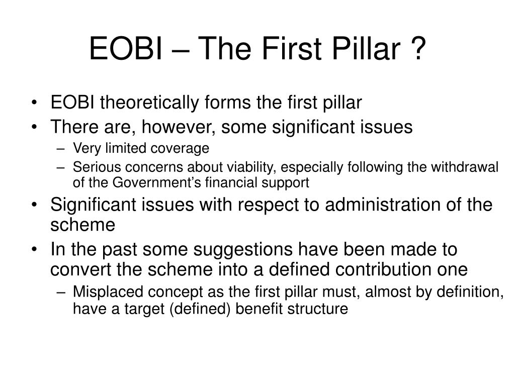 EOBI – The First Pillar ?