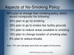 aspects of no smoking policy