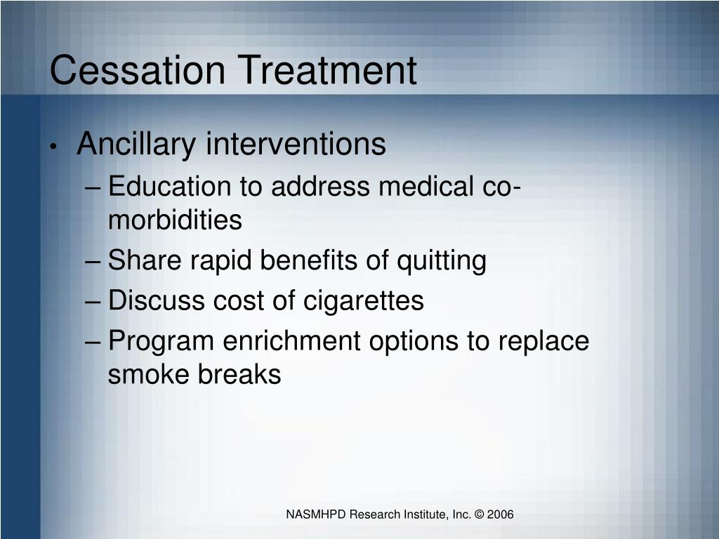Cessation Treatment