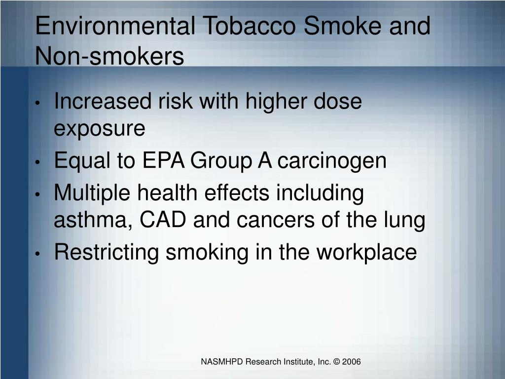 Environmental Tobacco Smoke and Non-smokers