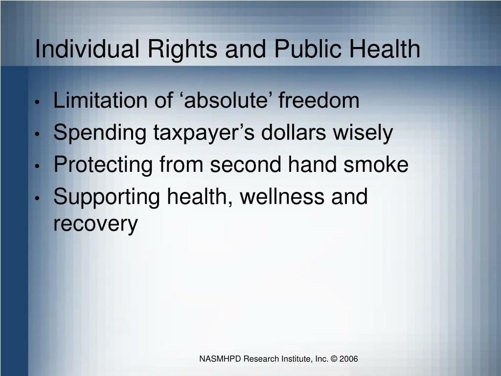 Individual Rights and Public Health