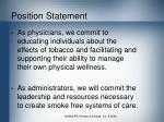 position statement
