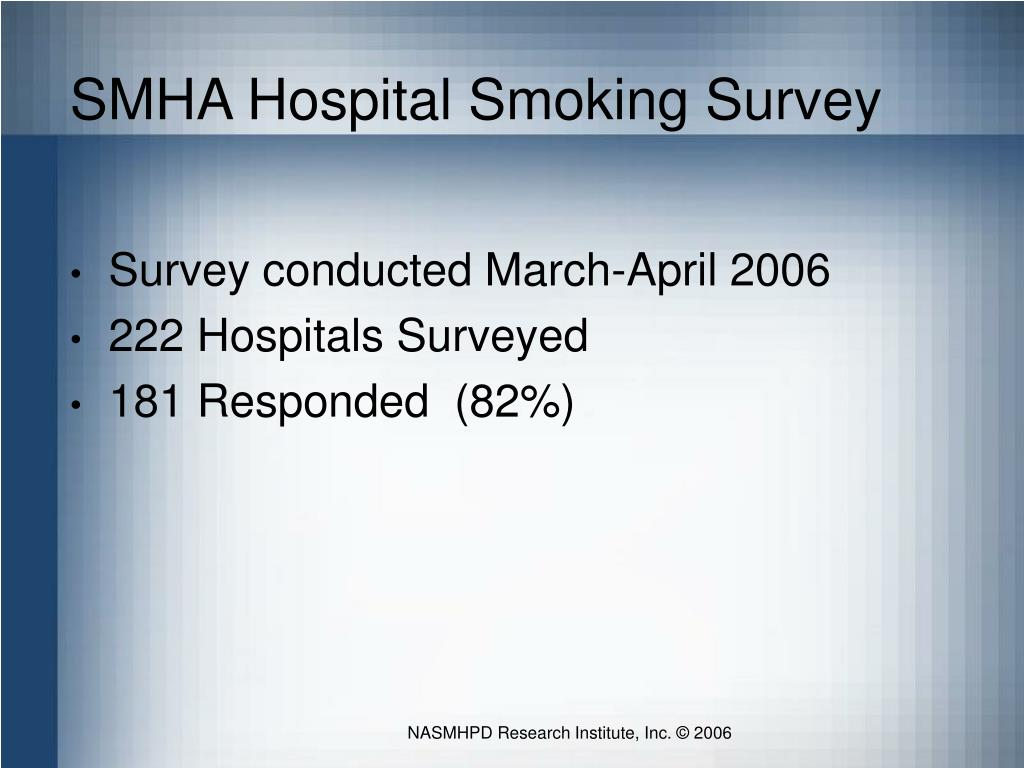 SMHA Hospital Smoking Survey
