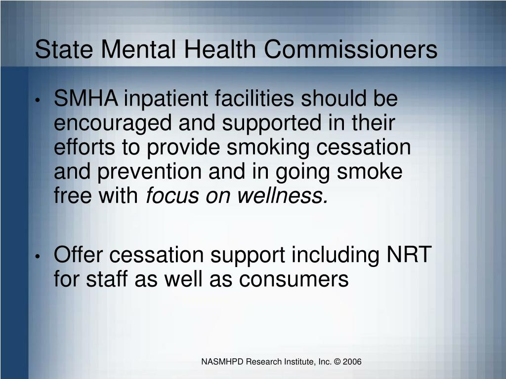 State Mental Health Commissioners
