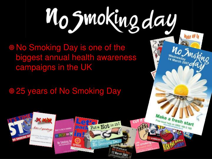 No Smoking Day is one of the biggest annual health awareness campaigns in the UK