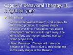 cognitive behavioral therapy is it right for you49