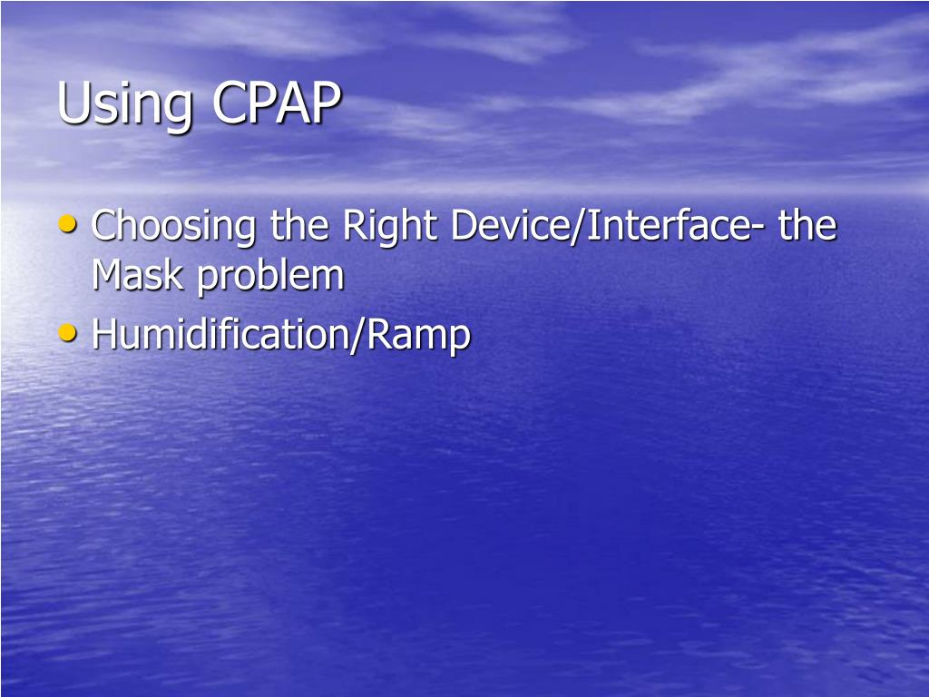 Using CPAP