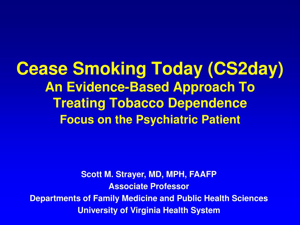Cease Smoking Today (CS2day)