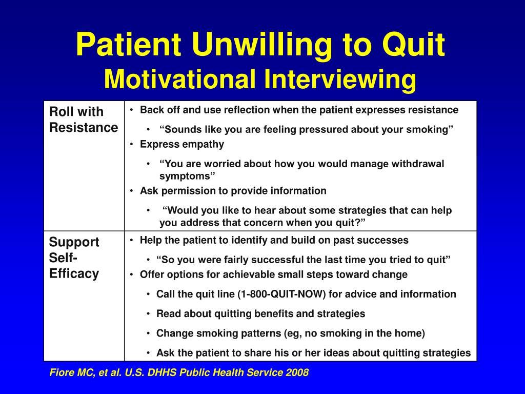 Patient Unwilling to Quit