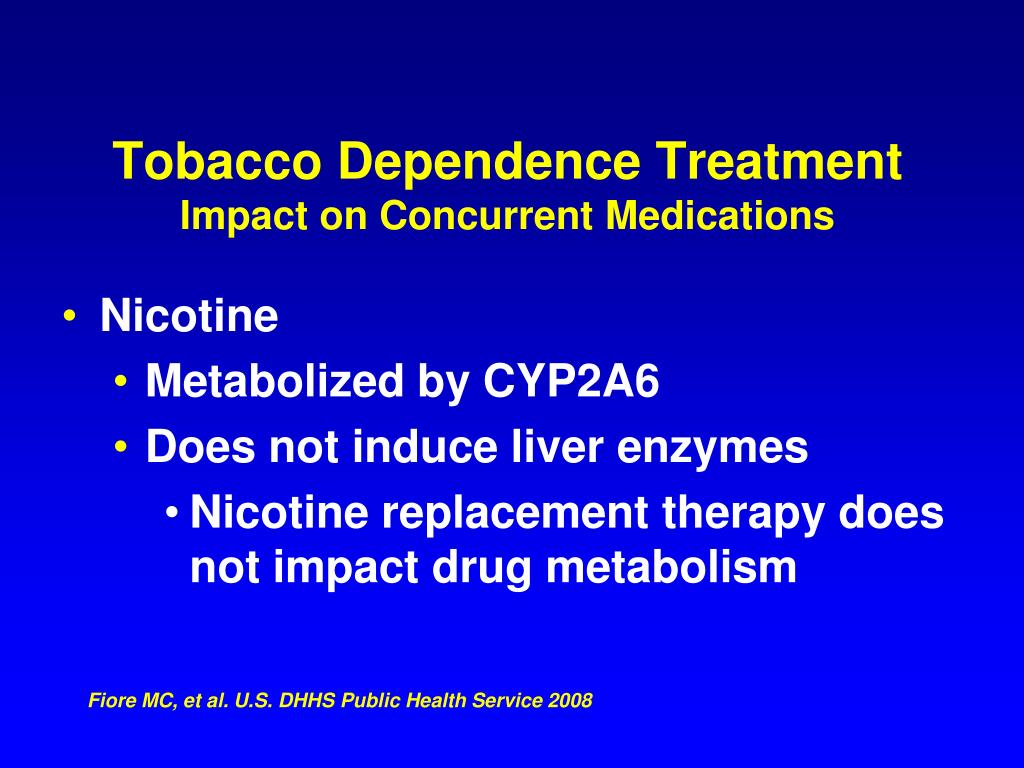 Tobacco Dependence Treatment