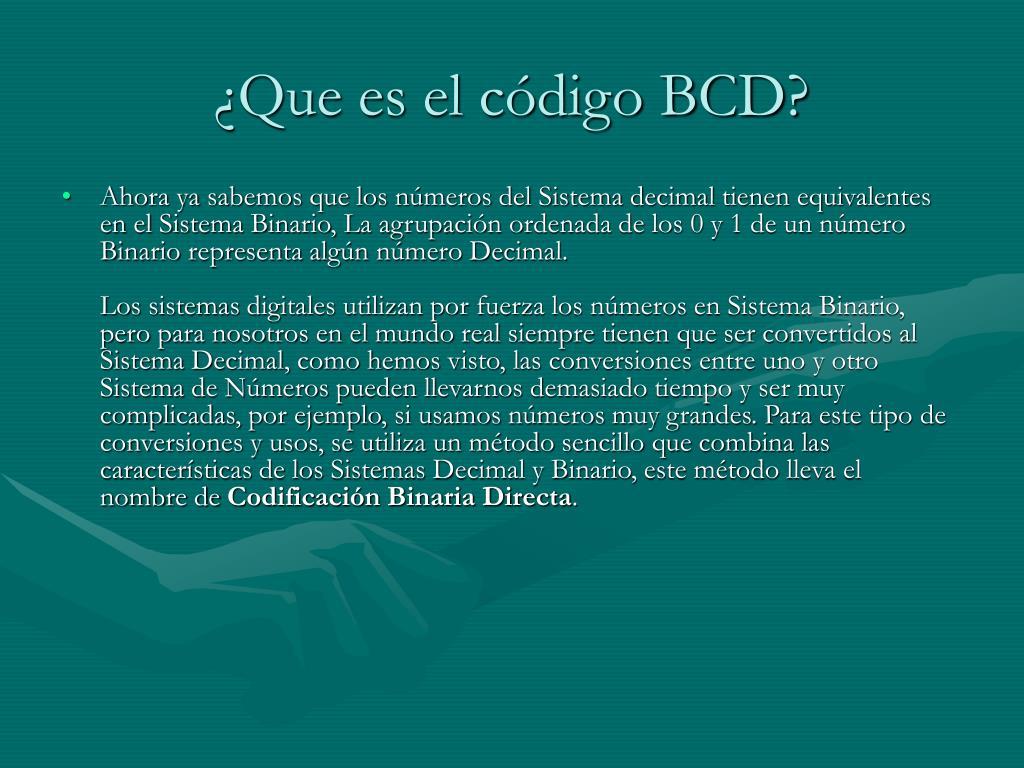 ¿Que es el código BCD?