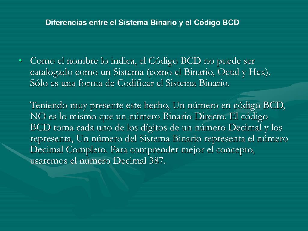 Diferencias entre el Sistema Binario y el Código BCD