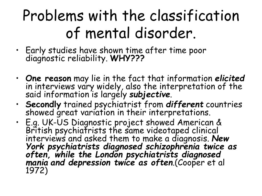 classification of mental disorders essay Diagnostic classification statistical manual of mental disorders classification of mental health and developmental disorders of infancy and.