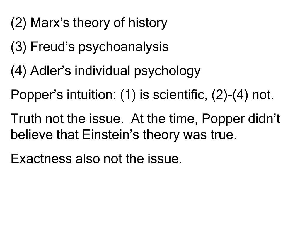 (2) Marx's theory of history