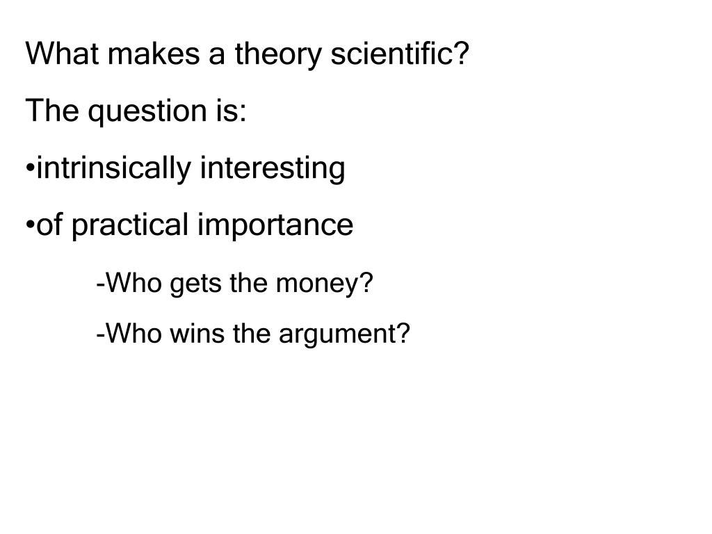 What makes a theory scientific?