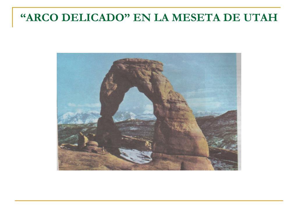 """""""ARCO DELICADO"""" EN LA MESETA DE UTAH"""
