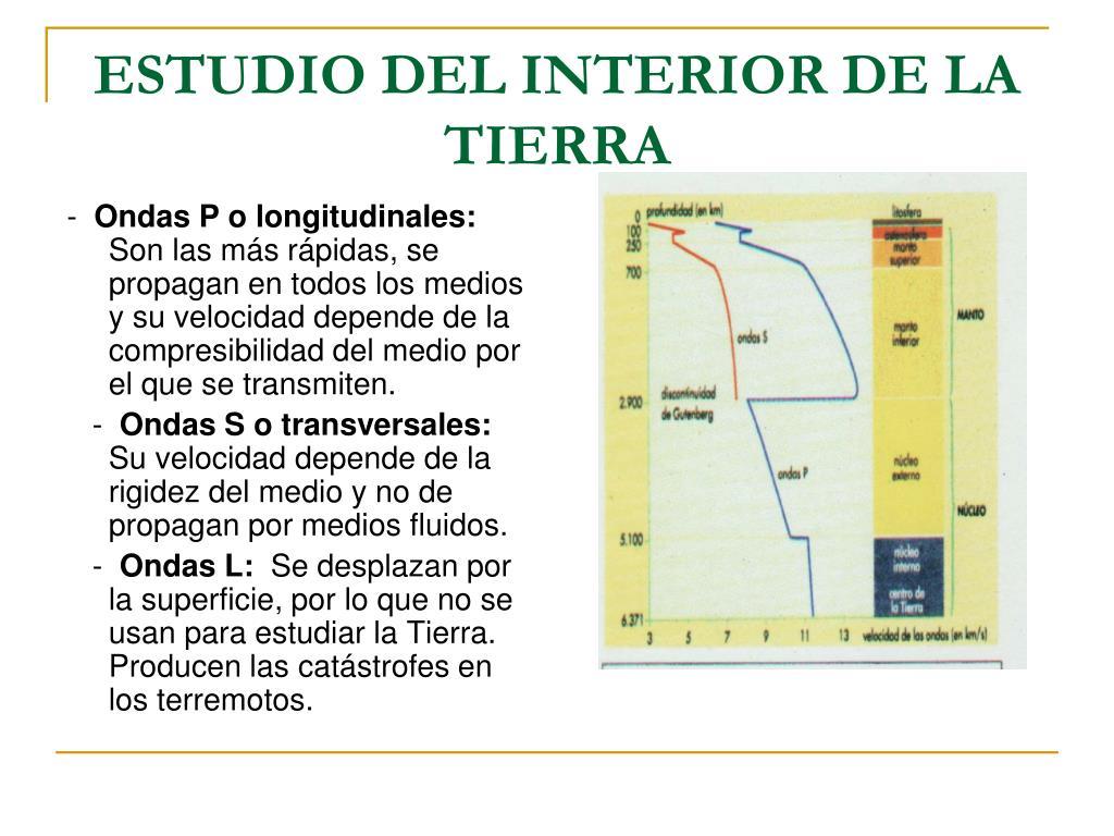ESTUDIO DEL INTERIOR DE LA TIERRA