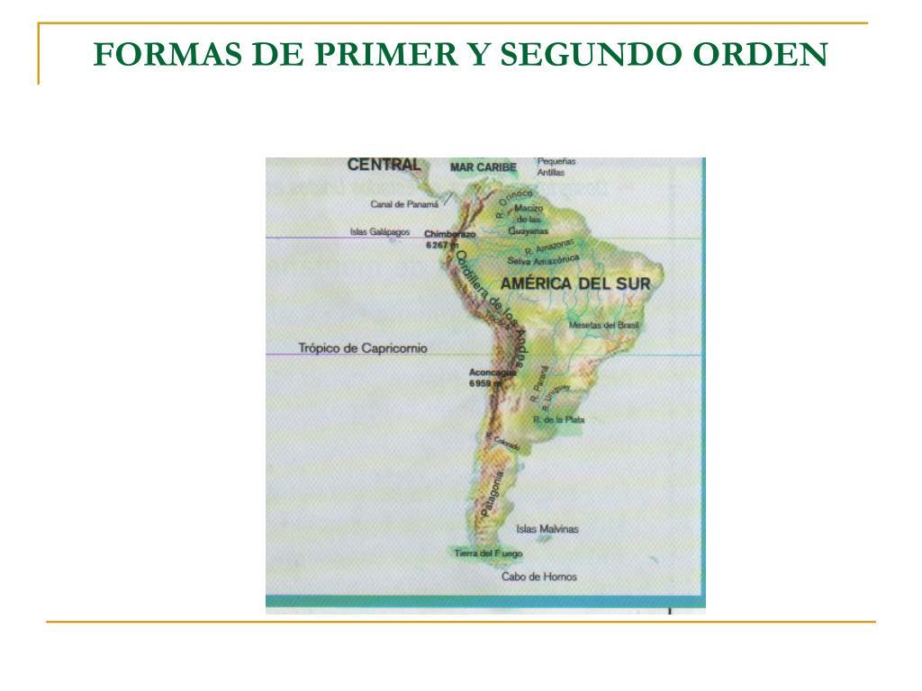 FORMAS DE PRIMER Y SEGUNDO ORDEN