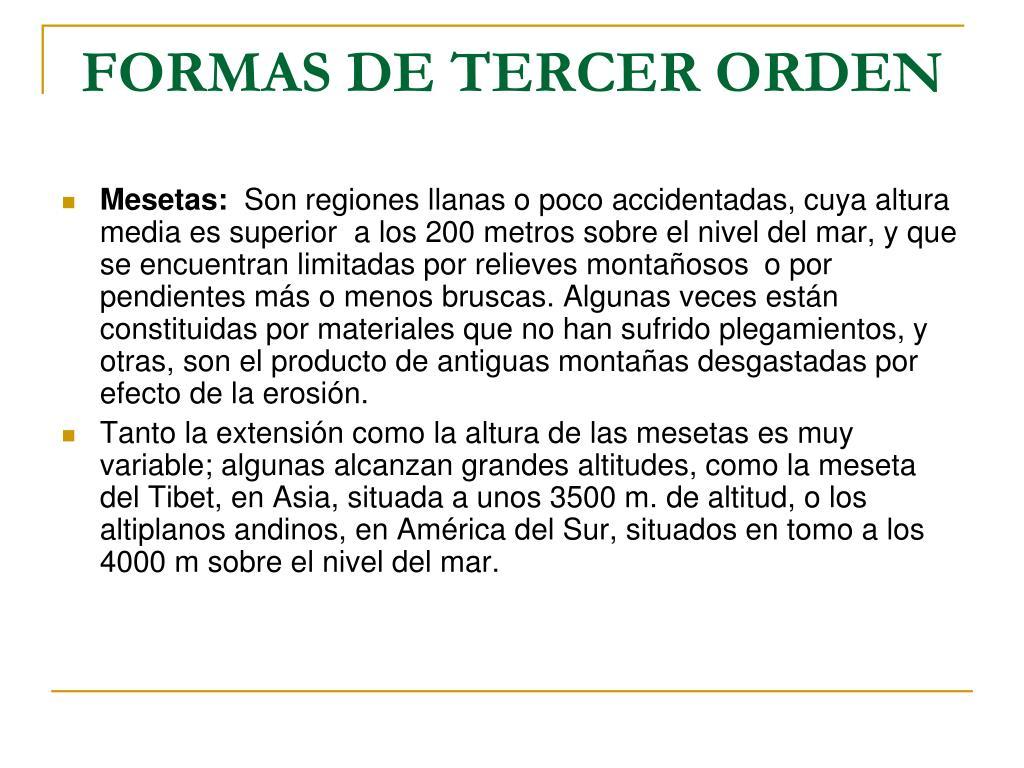 FORMAS DE TERCER ORDEN