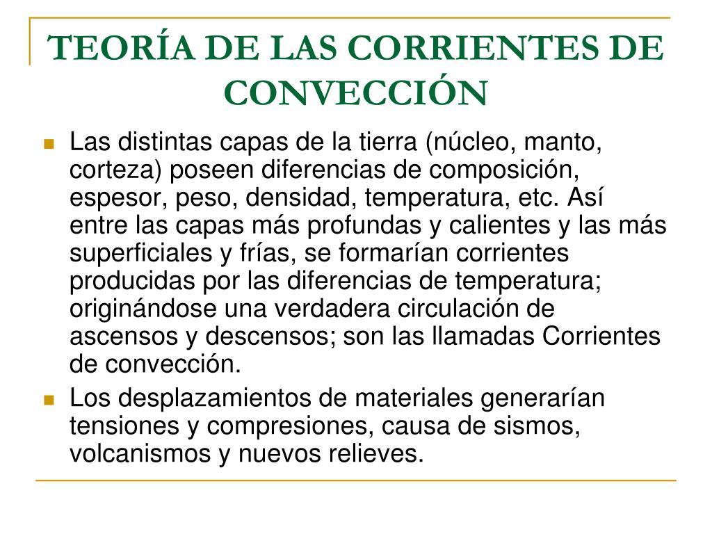 TEORÍA DE LAS CORRIENTES DE CONVECCIÓN