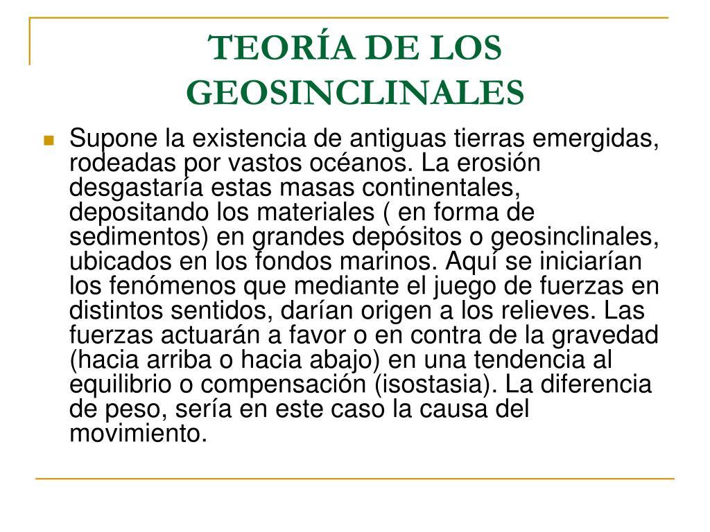 TEORÍA DE LOS GEOSINCLINALES