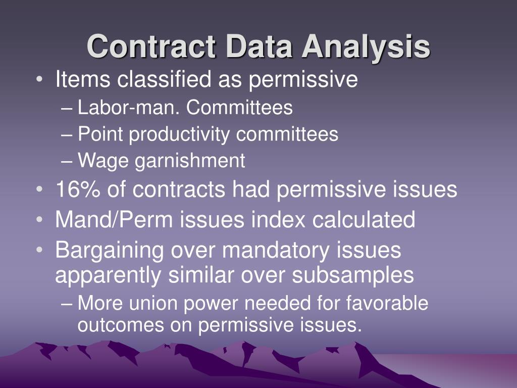 Contract Data Analysis