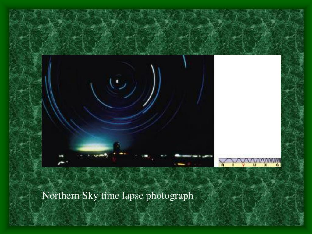 Northern Sky time lapse photograph