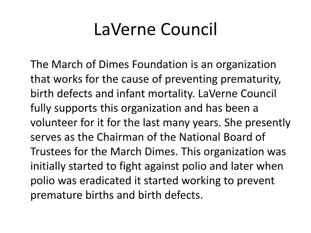 LaVerne Council