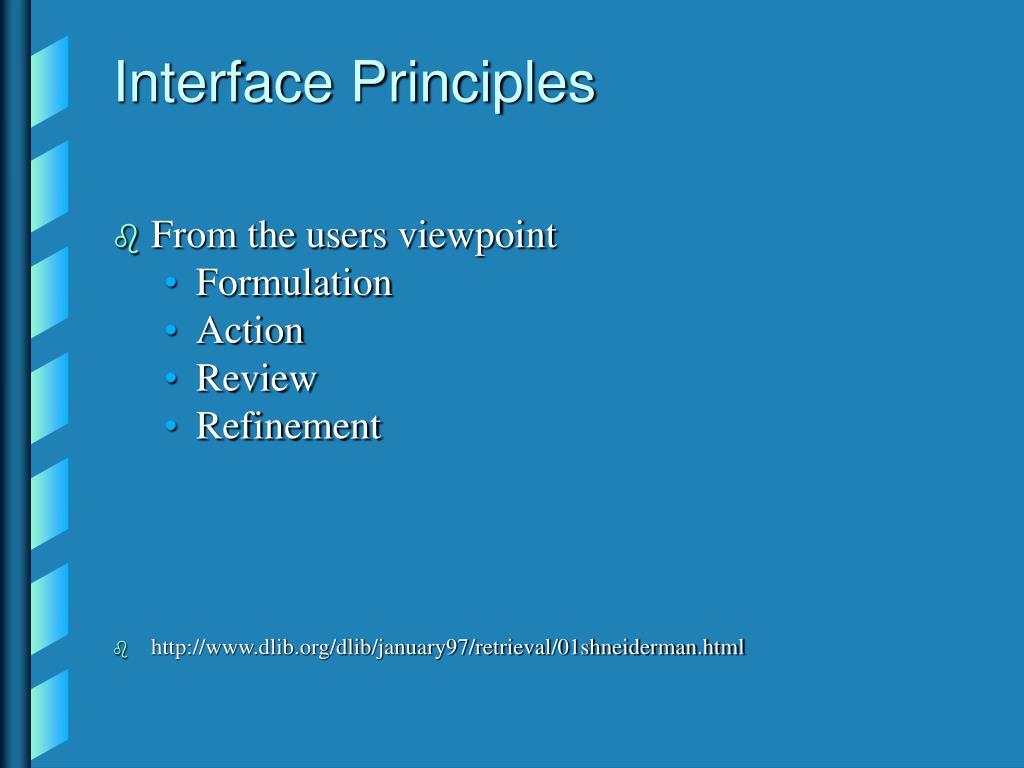 Interface Principles