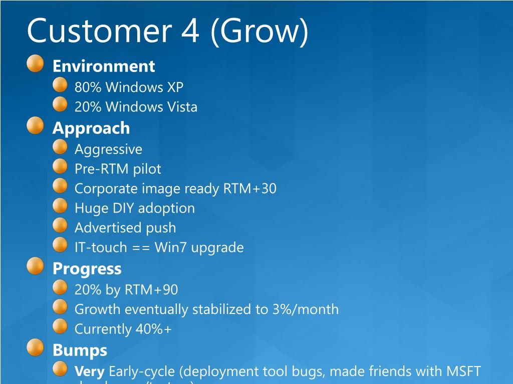 Customer 4 (Grow)