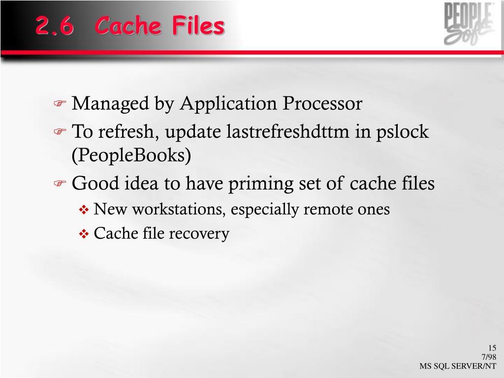 2.6  Cache Files