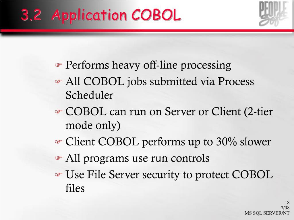 3.2  Application COBOL