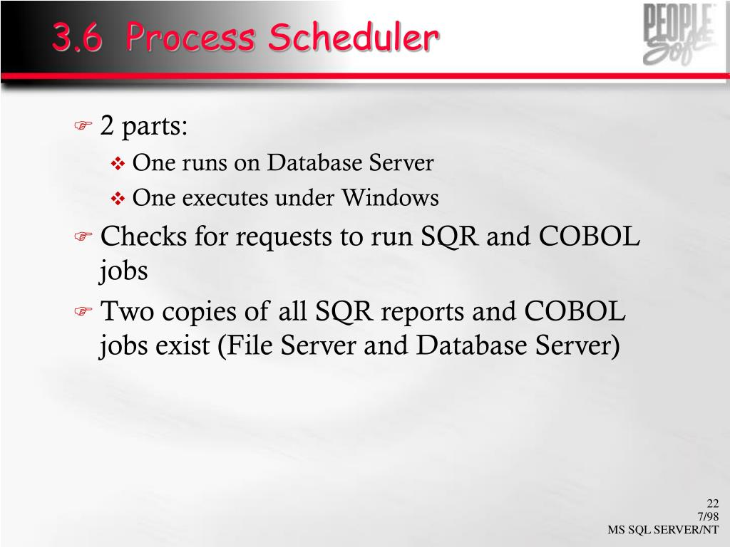 3.6  Process Scheduler